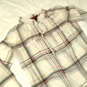 Plaid sheet dress shirt